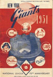 Giants Scorecard 1951