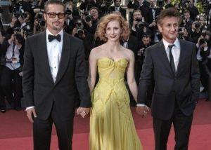Brad Pitt, Jessica Chastain e Sean Penn