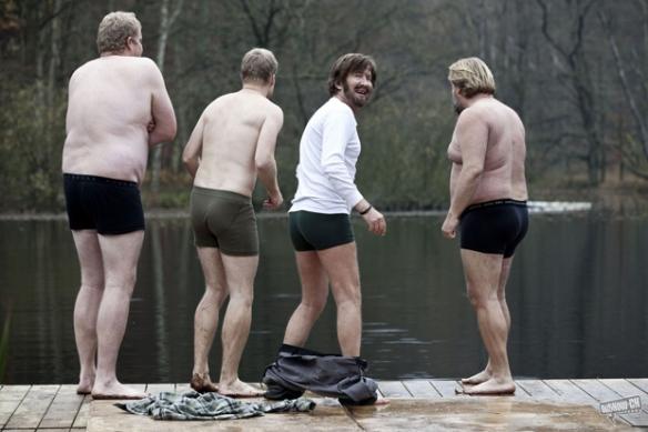 Un quartetto di vichinghi ubriachi. E' in corso un'indagine per stabilire se il primo da destra faceva il finlandese nella pubblicità della Ricola.