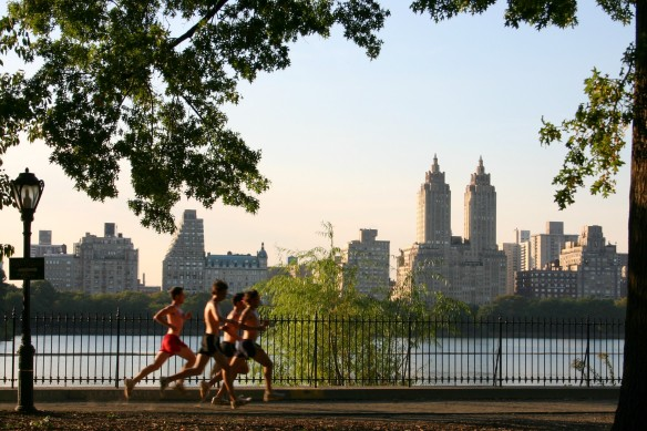 Jogging a Central Park, New York. foto Patrick Gruban