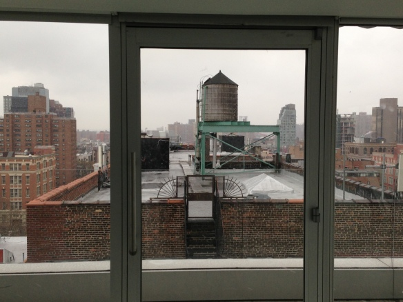 Vista con neve dal New Museum. New York.