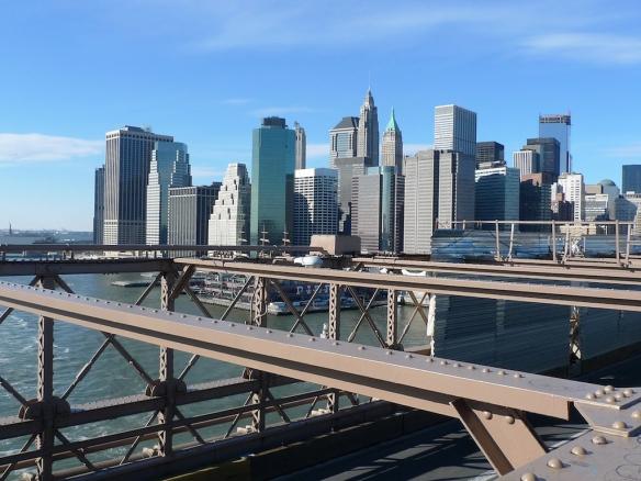 Manhattan vista dal ponte di Brooklyn