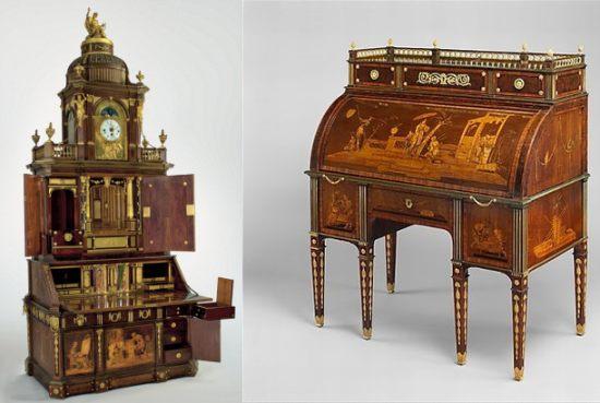 Alcuni dei mobili in mostra al MET