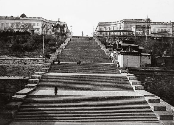 L'escalier Richelieu di Odessa, 1890-1900 foto photographium.com